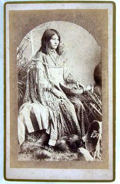 Sheldon Azimov You saved to Ancestors of Turtle Island 1880's NATIVE AMERICAN APACHE INDIAN WOMAN DAISY CABINET CARD PHOTO By WITTICK