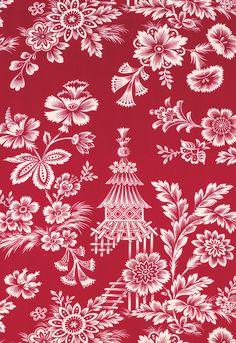 Song Garden in Lacquer   125th Anniversary Collection   Schumacher