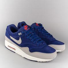Nike Air Max 1 Prm Shoes - Deep Royal Blue/Grey Neutral