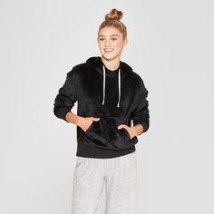 cdb8bc7913 Women s Cozy Plush Sleep Sweatshirt - Xhilaration Black S