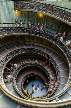 Double Spiral - The famous double spiral staircase in the Vatican Museums.