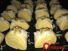 Obľúbené slané pečivo, ktoré je skvelé ako pohostenie pre hostí, na slávnostný stôl, alebo ako slaná chuťovka k dobrému filmu. Vyskúšajte skvelé plnené mini-rolky z kysnutého cesta bez kysnutia. Cookie Recipes, Dessert Recipes, Savory Pastry, Salty Snacks, Hungarian Recipes, Holiday Dinner, Sweet And Salty, Food 52, Winter Food