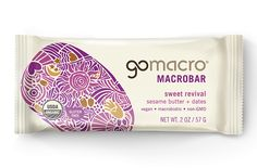 GoMacro Organic Macrobar - Tahini Date - 2 oz Bars - Case of 12