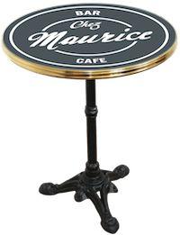 """Table de bistrot émaillée """"BAR CAFE Chez Maurice"""" #Ardamez #Enamelbistrotable"""