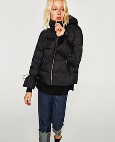 Image 2 of QUILTED JACKET WITH HOOD from Zara