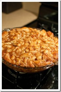 Upside Down Cinnamon Apple Coffee Cake...I would make my own apple pie filling rather than using canned