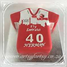 Lions Rugby Jersey Cake #lionsrugbyjerseycake