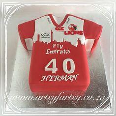 Lions Rugby Jersey Cake #lionsrugbyjerseycake