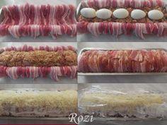 Rozi erdélyi,székely konyhája: Tojásos,csirkemell rolád Sausage, Bacon, Recipes, Martha Stewart, Food, Sausages, Recipies, Essen, Meals