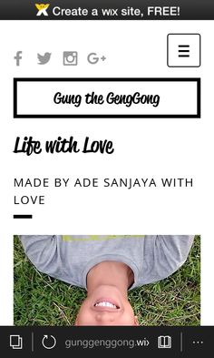 My New Website http://gunggenggong.wix.com/gunggenggong