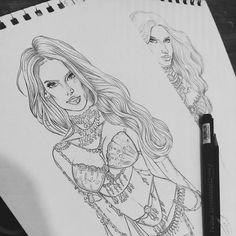 Alessandra Ambrosio & Adriana Lima - Victoria's Secret Angels - VS Fashion Show 2014 London - Fantasy Bra - Illustration - Bethany Katie Illustration | BKM
