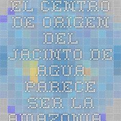 El centro de origen del jacinto de agua parece ser la Amazonia, Brasil