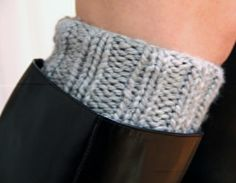 Ribbed Boot Cuffs pattern on Craftsy.com