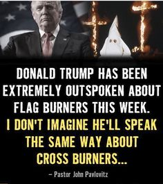 NOT ONE WORD about the HATE CRIMES that are being committed everyday in his name since the election. Over 900 to date. (Not including the ones that haven't been reported) He values a piece of cloth over Human Life (MINORITY HUMAN LIFE) 🇺🇸