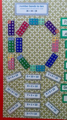 Number bonds to ten display using Numicon School Displays, Classroom Displays, Classroom Organisation, Math Classroom, Teaching Numbers, Math Numbers, Teaching Math, Teaching Ideas, Numicon Activities
