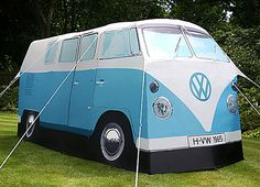Now if this were in red-white, it'd be my old VW Bus #2. = Cool Tent Designs We Love