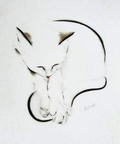 The Tail is Caught ! (Pencil drawing by Kellas Campbell).
