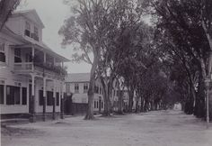 De Heerenstraat in Paramaribo, Suriname 1920