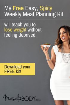 Meal Planning Kit will teach you to lose weight by Nagina FREE Meal Planning Kit: Free Easy, Spicy M Weight Loss Meal Plan, Easy Weight Loss, Lose Weight, How To Debloat, Cayenne Pepper Recipes, Turmeric Recipes, Paleo Recipes, Ginger Benefits, Pepper Benefits