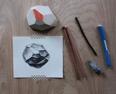 Roll up your sleeves, because it's time to draw with charcoal! This tutorial will show you the basics for drawing geometric shapes with this versatile medium.