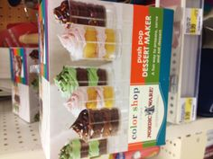 Push pop holders for cupcakes @ Target!  Fun stuff I wanna try out.
