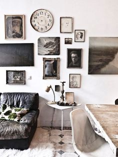 Lauren Liess | Pure Style Home Love the clock without hands.....Have that in my home and when people ask why, I say....when you are here...time stands still...