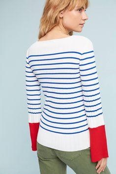 Slide View: 3: Cambridge Striped Sweater
