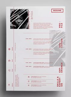 Resume Design Templates AI, EPS - Design in 300 DPI resolution - paper size. Graphic Design Resume, Resume Design Template, Cv Template, Resume Templates, Design Templates, Creative Resume Design, Creative Logo, Templates Free, Portfolio Resume