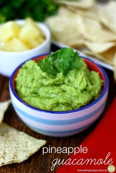 Clean Eating Pineapple Guacamole...made with fresh, clean ingredients and it's raw, vegan, gluten-free, dairy-free, paleo-friendly | The Healthy Family and Home