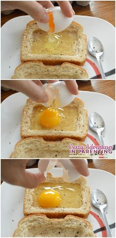 Cheesy Baked Egg Toast | Crazy Adventures in Parenting