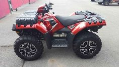 Used 2015 Polaris Sportsman 850 SP EPS Sunset Red ATVs For Sale in Tennessee.