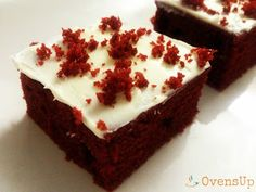 Red Velvet Cake Bites (Eggless): Not too sweet and just right for a hi tea party !