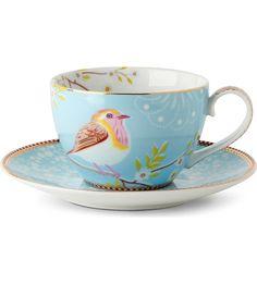 PIP STUDIO - Blue tea cup and saucer | Selfridges.com