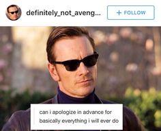 Can I apologize in advance? Man Movies, I Movie, X Men Funny, Erik Lehnsherr, Cherik, Hulk Marvel, Marvel Memes, Xmen, Marvel Cinematic Universe