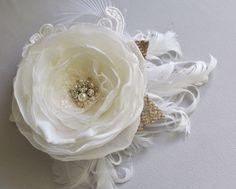 Ivory Bridal Hair Accessory Wedding Headpiece by BelleBlooms, $40.00