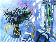 Interior with flower vase, Marc Chagall, 1918
