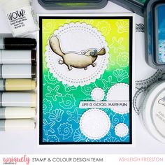 Life is Good - Ashleigh Freeston - Uniquely Creative Australian Christmas Cards, Mermaid Lagoon, Cut Image, Distress Oxides, Copic Markers, Card Sizes, Life Is Good, Card Stock, Projects To Try