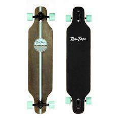 Ten Toes Rift Drop-Through Longboard Skateboard Skateboard Logo, Skateboard Design, Skateboard Girl, Painted Skateboard, Bamboo Longboard, Longboard Decks, Cool Longboards, Drop Through Longboard, Long Skate