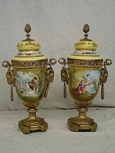 Gorgeous Sevres urns