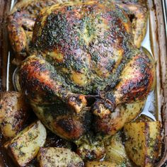 Dominican style whole roasted chickenpollo horneado entero pollo asado con chimichurri forumfinder Images