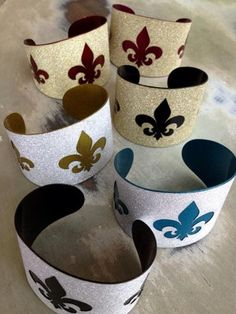 Glitter Fleur de Lis Cuff Bracelet-for Game Day All That Glitters, Cuff Bracelets, Bling, Crystals, My Style, Metals, Stones, Game, Jewel