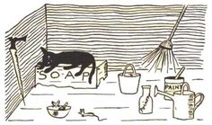 NYRB Reading Week: Jenny Goes to Sea, Story and Pictures by Esther Averill Children's Book Illustration, Pattern Illustration, Illustration Styles, Book Illustrations, Black Cat Art, Black Cats, Fashion Sketchbook, Paper Book, Club