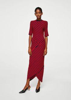 striped jersey dress Clothing for Women   MANGO USA