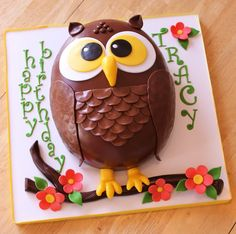 Cakebox: Tracy's Owl