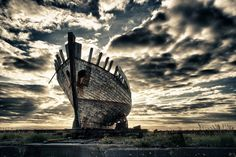 "Old and Graceful  By Ogni Rufl: ""I came across this ship during a trip with my family to Akranes a town right outside of the capital area in Iceland. It looked just perfect and calm after a long and interesting life."""