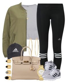 """Adidas from her head to her toes 💣"" by livelifefreelyy ❤ liked on Polyvore featuring Free People, adidas, Maison Scotch, Hermès, Fendi, Joolz by Martha Calvo, Michael Kors, Ela Stone and Brooks Brothers"