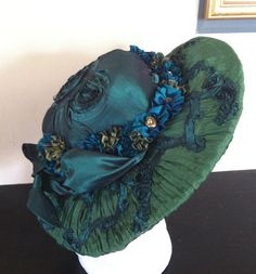 Green Edwardian Downton Abbey Hat on Etsy, $100.00