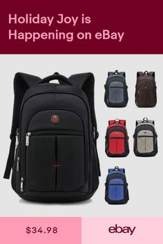 Teenage Waterproof Travel Laptop Backpack inch For Men and Women 2019 Black Backpack, Notebook Laptop, Laptop Bag, Range Bag, Mens Travel, Waterproof Backpack, Small Shoulder Bag, Leather Briefcase