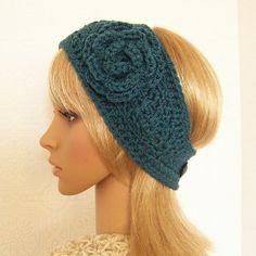 free crochet headband ear warmer pattern | Crochet headband headwrap...