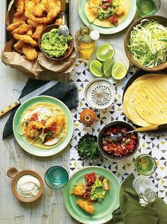 Gwyneth Paltrow's fish tacos! Heather's Note: I don't batter & fry my fish – I marinate it in lime, salt and pepper and then pop it in the frying pan or baking sheet (wrapped in parchment). I think she suggests halibut, which is good, but you can sub any white fish.